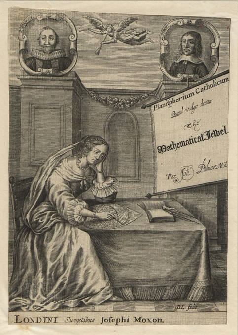 Print (Engraving) Frontispiece to Palmer's The Mathematical Jewel