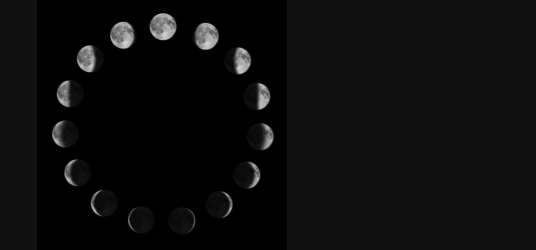 Phases of the Moon (circular)