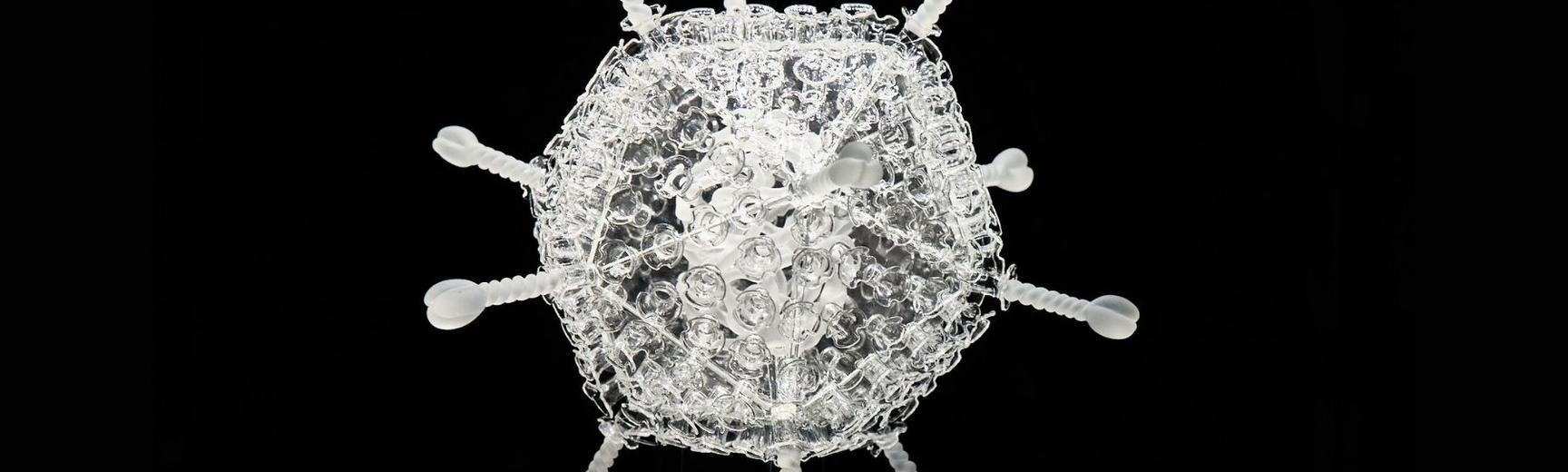 Luke Jerram COVID-19 vaccine glass sculpture (single nanoparticle)