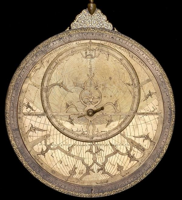 37148 Astrolabe with Lunar Mansions by Abd al Karim Jazira Mesopotamia 1227-8