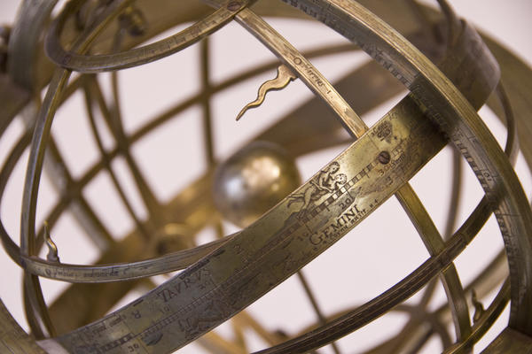 armillary sphere with zodiac signs