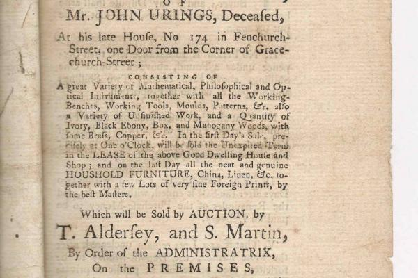 Auction catalogue: Urings