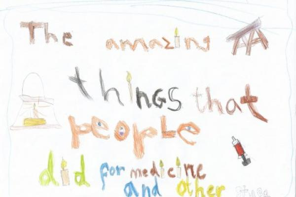 """Freya's poster for """"The Amazing Things"""" exhibition"""