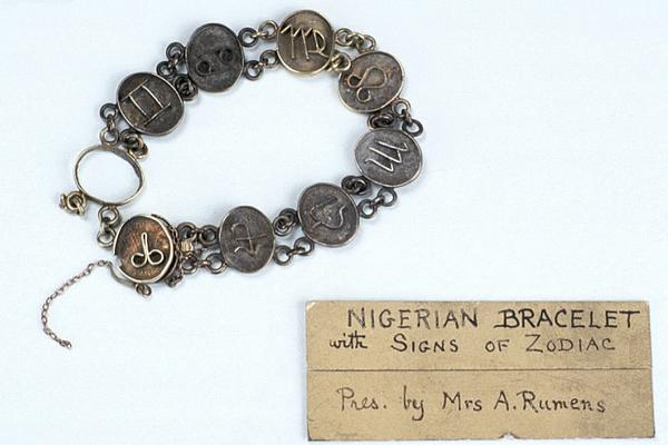 nigerian bracelet with signs of the zodiac
