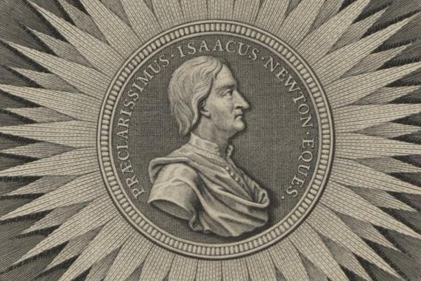 preview image for In Print exhibition showing Sir Isaac Newton