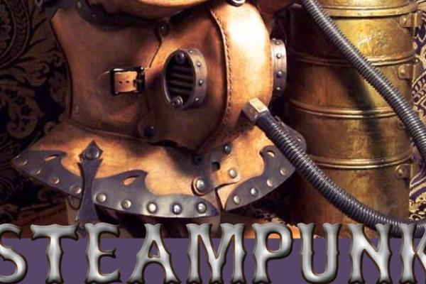 A Steampunk diving helmet featured on the front page of the exhibition programme