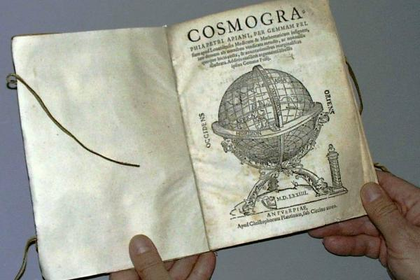 a copy of Cosmographia by Peter Apian