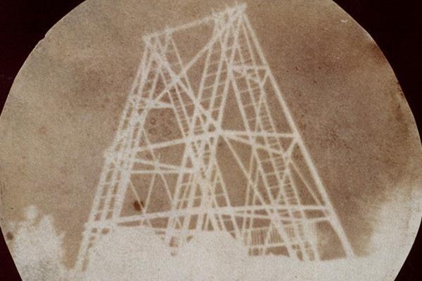 Early Photographs: a photogenic drawing showing a view of the telescope at Slough, by Sir John Herschel