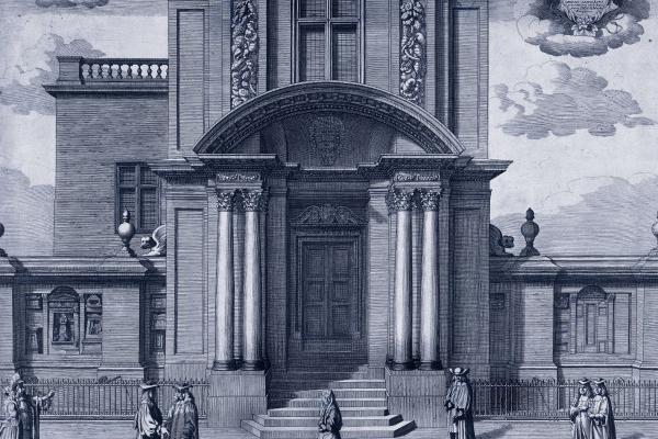 print showing the Old Ashmolean building, used for Solomon's House exhibition